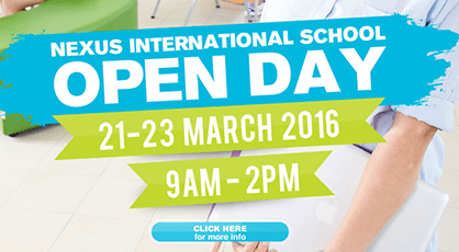 Open Day Landing Page – Nexus International School Putrajaya