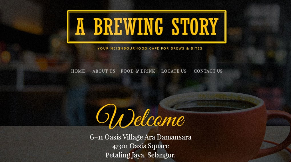 A Brewing Story Cafe - Ara Damansara