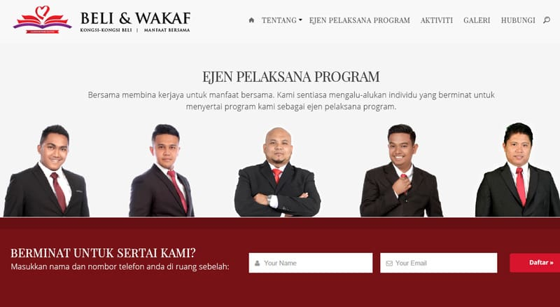 Program Beli & Wakaf anjuran Illusion Network Solution.