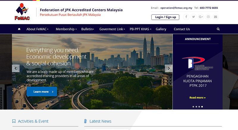 Federation Of JPK Accredited Centers Malaysia – FEMAC