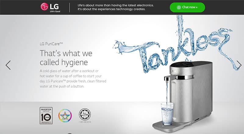 LG PureCare™ TANKLESS WATER PURIFIER