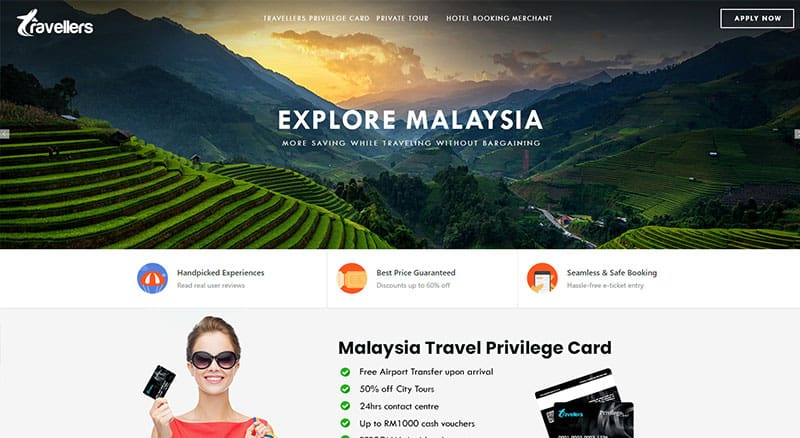 Get discount when you visit Malaysia with Travelers - Tourist Privilege Card