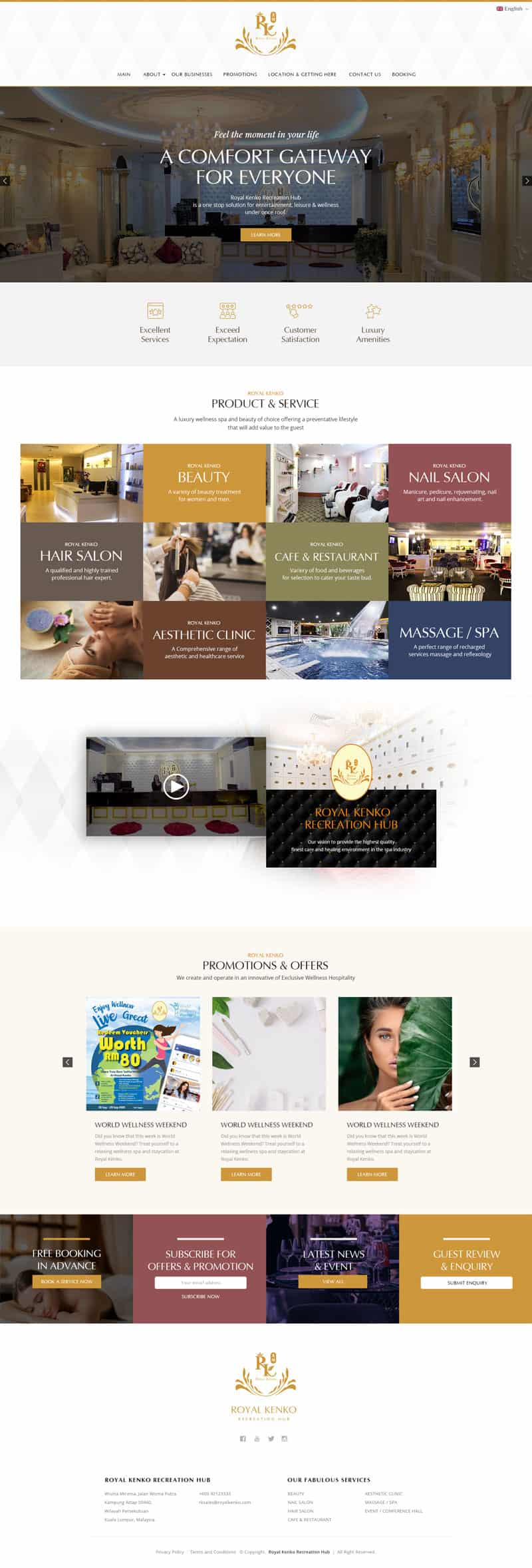 Royal Kenko Recreation Hub Web Design