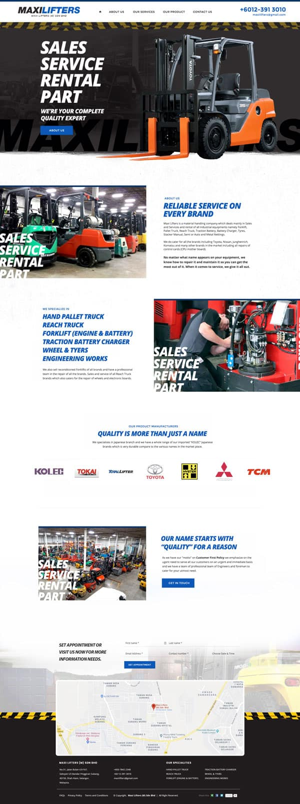 Forklift And Machinery Website Design Malaysia