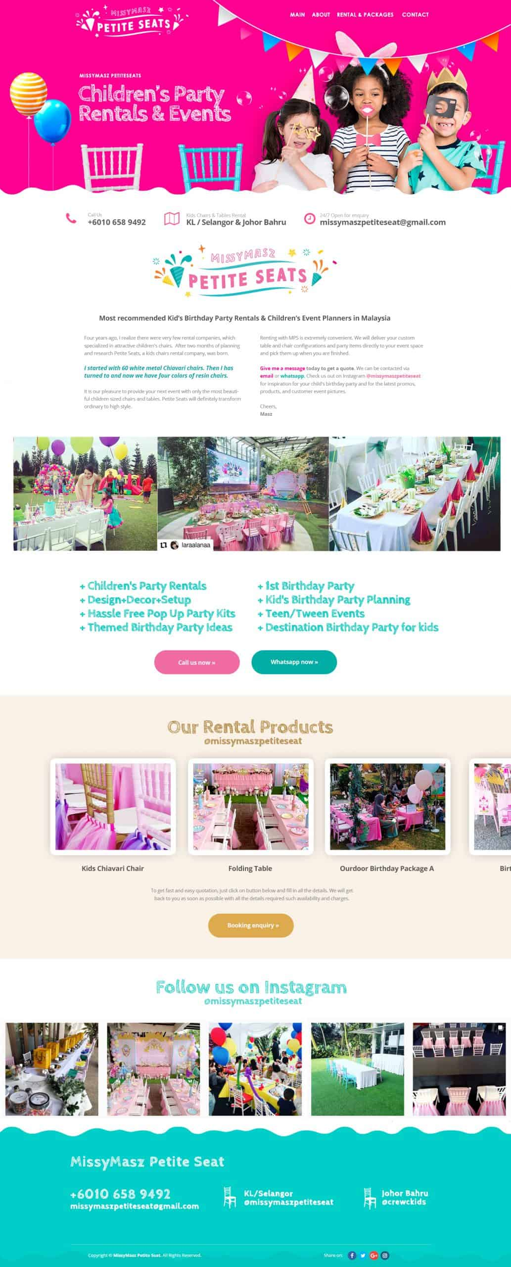 Kids Chairs Party Rentals & Events