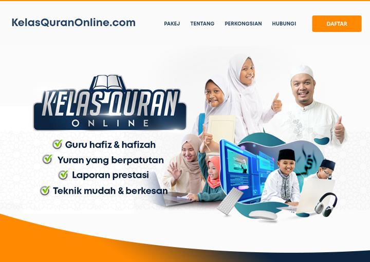 Website Design kelas mengaji online Malaysia